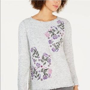 Style & Co Embroidered Sweater NWT
